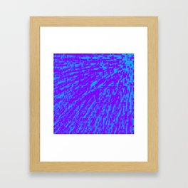 Purple Blue Abstract Framed Art Print