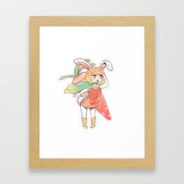 Carrot Sticker Framed Art Print