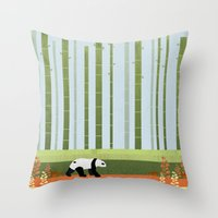 bamboo Throw Pillows featuring Bamboo by Kakel