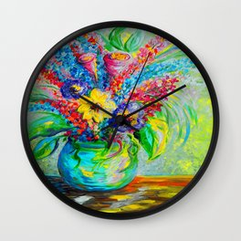 Spring in a Vase Wall Clock