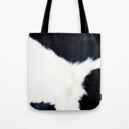Black & White Spots (Cow Print) Tote Bag