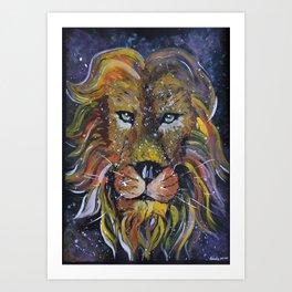 Lion painting, Lion wallart Art Print