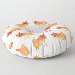 Pomeranian, pom puppy Floor Pillow