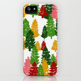 Scribble Trees iPhone Case