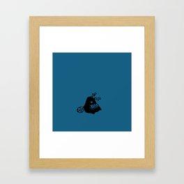 Little reader - Ocean blue Framed Art Print