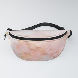 Beautiful Pink and Gold Ombre marble under snow Fanny Pack