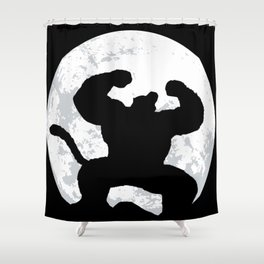 Night Monkey Shower Curtain