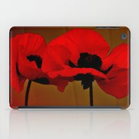 poppies iPad Cases featuring POPPIES by Teresa Chipperfield Studios