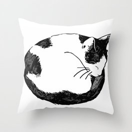 Sleepy Cat Throw Pillow