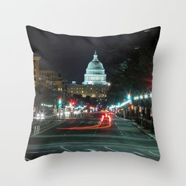 DC At Night Throw Pillow