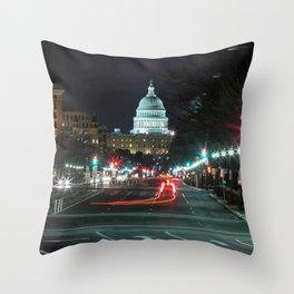 DC At Night Throw Pillow