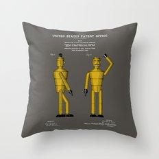 Robot Patent Throw Pillow
