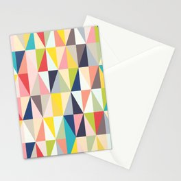 Abstract Geo Diamonds Stationery Cards