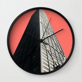 Hancock in Living Coral Wall Clock