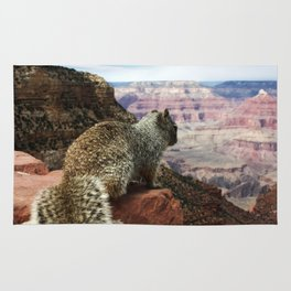 Squirrel Overlooking Grand Canyon Rug