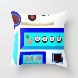 A Sushi Dinner with Tea Throw Pillow