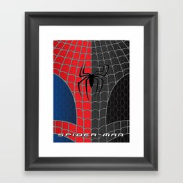 Spider-Man Red/Black Framed Art Print