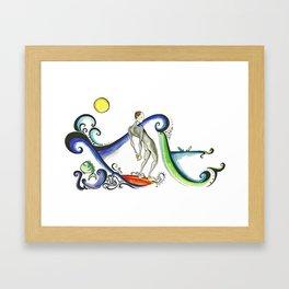 Nose riding Surfer  Framed Art Print
