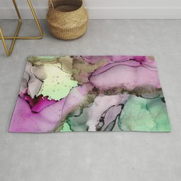 Green Window      Alcohol Ink Painting Rug