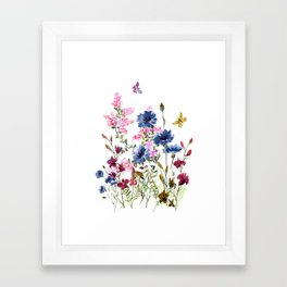 Wildflowers IV Framed Art Print