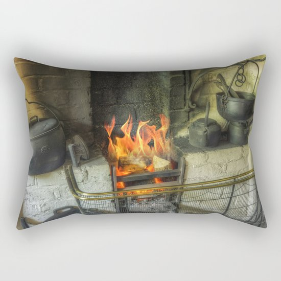 Olde Kitchen Fire Rectangular Pillow