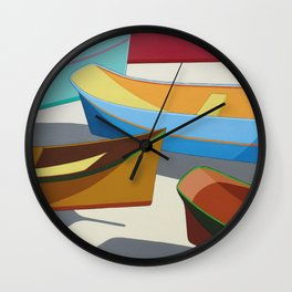 COLORED BOATS Wall Clock
