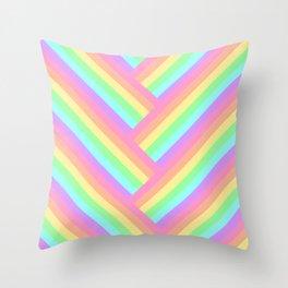 Woven Rainbow Throw Pillow