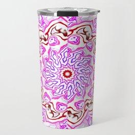 Pink Kaleidoscope Travel Mug