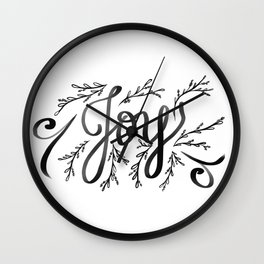 Joy and mistletoe Wall Clock