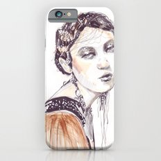 Fashion illustration with golden watercolors Slim Case iPhone 6s
