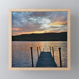 Greet the Adirondack Autumn Sun Framed Mini Art Print