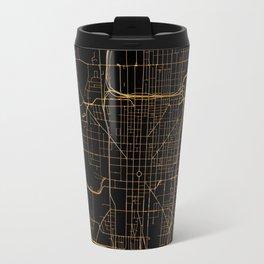 Black and gold Indianapolis map Travel Mug