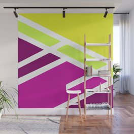 Geometric triangle colorful High colors Wall Mural