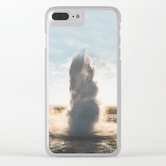 Geysir, Iceland II Clear iPhone Case