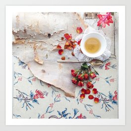 Tea with Roses Art Print