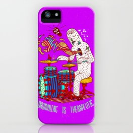 Drumming is therapeutic iPhone Case