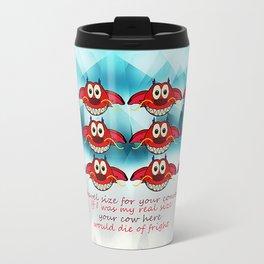 mushu emoji Travel Mug