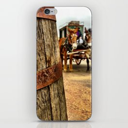 A barrel and some donkeys. iPhone Skin