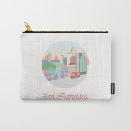 San Francisco City Art Carry-All Pouch