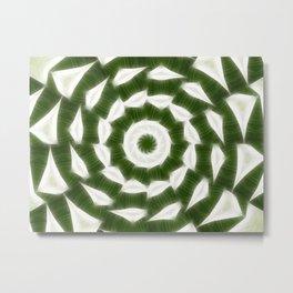 Green White Kaleidoscope Art 5 Metal Print