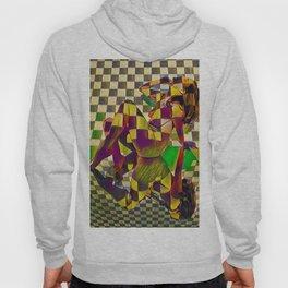 6097-KMA Checkerboard Nude Sitting on Mirror Hoody