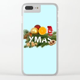 Xmas Decoration Clear iPhone Case