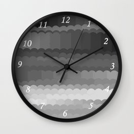 Gray Waves Wall Clock