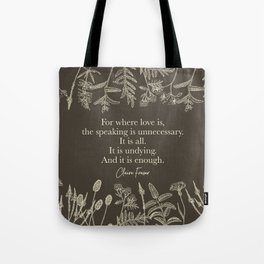 For where love is... Claire Fraser in Sepia Tote Bag