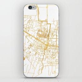 SIEM REAP CAMBODIA CITY STREET MAP ART iPhone Skin