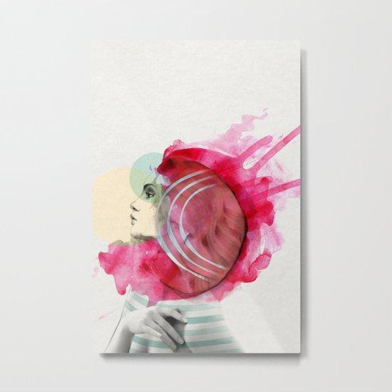 Bright Pink Metal Print