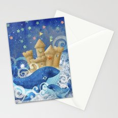 Sandcastle Waves Whales Stationery Cards