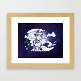 SteamGirl Framed Art Print