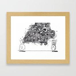 """""""Bla, bla, bla"""" Framed Art Print"""