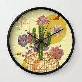 SPACE TIME DESERT Wall Clock